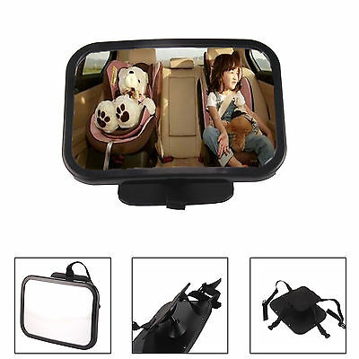 Large Wide Baby Child Car Safety Back Seat Mirror Easy View Easily Adjustable