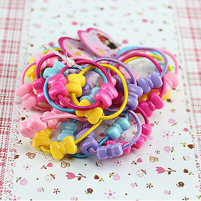 50 Pcs Assorted Elastic Rubber Hair Rope Band Ponytail Holder for Kids Girl QW