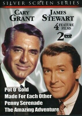Silver Screen Series: Cary Grant & James Stewart [New DVD] Black & White