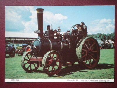 Postcard  Detling A Old Steam Tractor