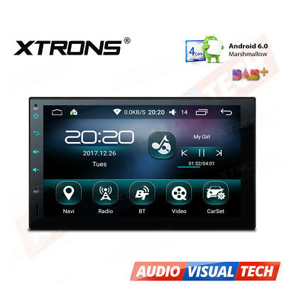 "XTRONS Android 6.0 Double DIN 7"" Car Stereo GPS Sat Nav DAB+ OBD2 WiFi 3G Radio"