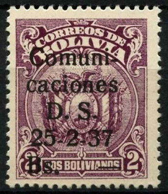 "Bolivia 1933 SG#313a 1b On 2b ""1"" Omitted Error MH #D39461"