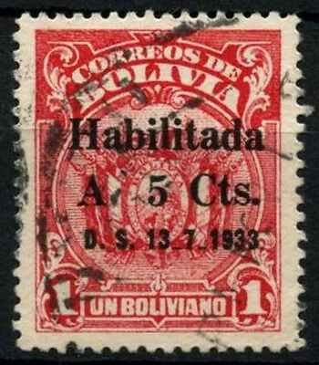 Bolivia 1933 SG#273, 5c On 1b Both Hyphen On Base Used #D39447