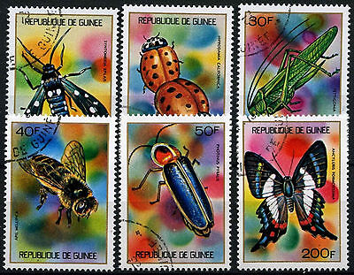 Guinea 1973 SG#819-824 Insects Cto Used Set #D39417