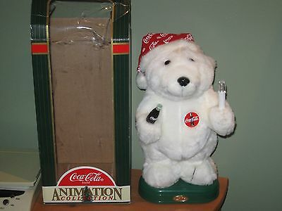 Coca-Cola Animation Collection Plush Polar Bear   1996