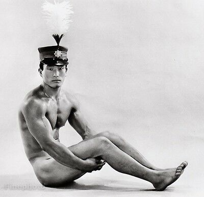 1960's Vintage JAPANESE MALE NUDE & HAT Muscle Asian Photo Art Gay TAMOTSU YATO