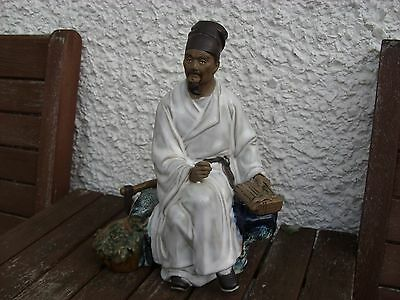 Glazed Ceramic Of A Chinese Figure