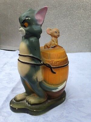 Vintage 1972 ceramic Tom & Jerry Metro Goldwyn Mayer moneybox