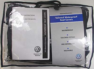 Vw Transporter T6 California Beach 2Nd Row Single Waterproof Black Seat Cover