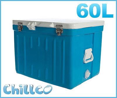 60L Chillco Ice Box Cooler Chilly Bin Superior Ice Retention - Rrp $350