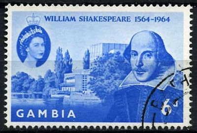 Gambia 1964 SG#210 WIlliam Shakespeare Used #D38272