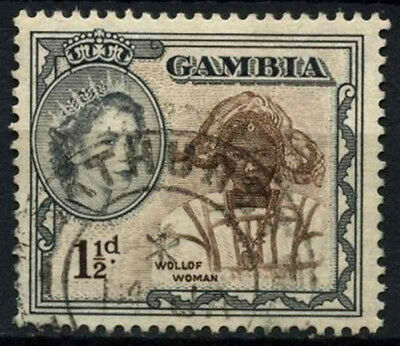 Gambia 1953-9 SG#173, 1.5d QEII Definitive Used #D38257