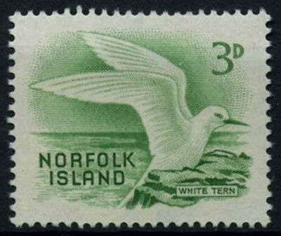 Norfolk Islands 1961 SG#26, 3d Green, White Tern, Bird MNH #D38047