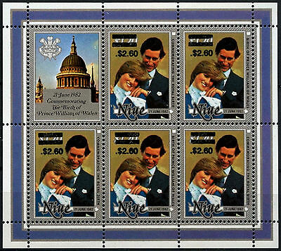 Niue 1981 SG#520a/b $2.60 On $1.20 Royal Birth MNH Sheetlet #D38023