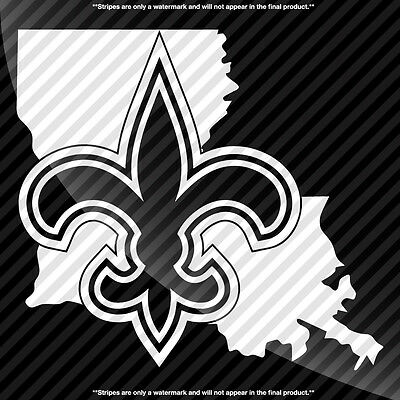New Orleans Saints Louisiana LA State Pride Decal Sticker - TONS OF OPTIONS