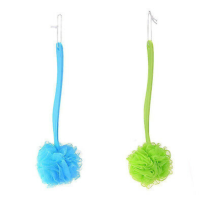 Shower Scrubber Loofah Sponge Bath Body Back Brush with Long Handle HY