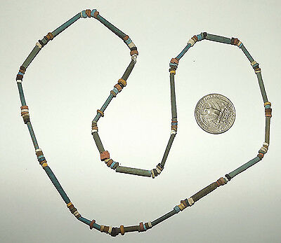 2500 Year old Ancient Egyptian Faience Mummy Bead NECKLACE (#D9522)