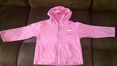 Girls pink hooded jacket, age 2 - 3 years.
