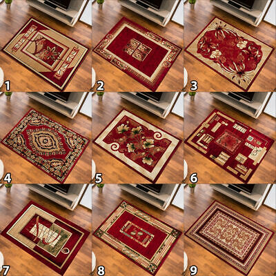 New Small Medium Extra Large Red Rug Designer Floor Carpet Traditional Pattern