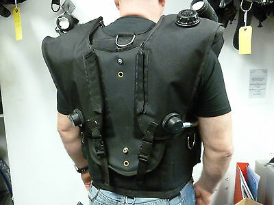 Rebreather back mounted counterlungs