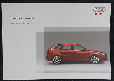 Genuine Audi A3 Sportback Owners Manual Handbook – 05/2009 Edition