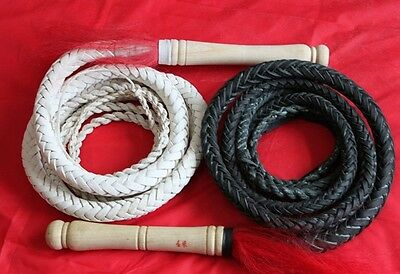 Long Handmade Leather Horse Bull Whip Riding Crop Cowboy Horsewhip Bull