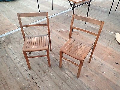 Vintage Wooden Chairs X2