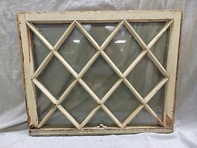 Antique Window Diamond Sash Shabby Cottage Chic Old Vintage 25 x 31 2330-16