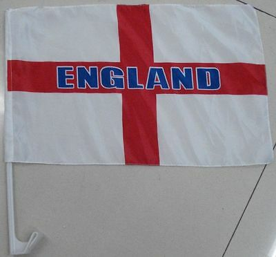 50 x England Country Car Flag Flags Retro White/Red Cross Football Rugby Cricket