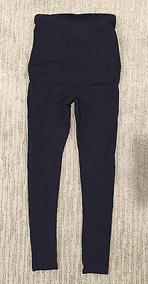 Oh! Mamma Oh Mamma Women's Maternity Leggings Small S Black Belly Band Stretchy