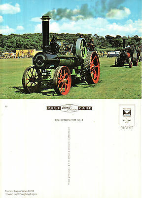 Fowler Light Ploughing Engine Unused Colour Postcard By Denis D 218 89