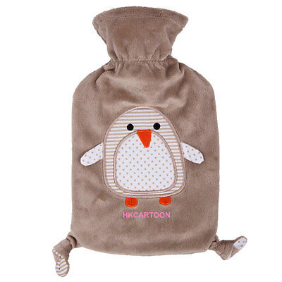 Germany Made Fashy 0.8L Hot Water Bottle W/ Gray Penguin Cover 6513
