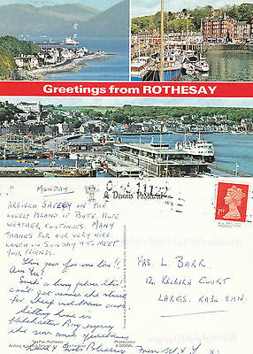 1990's MULTI VIEWS OF ROTHESAY ARGYLE & BUTE COLOUR POSTCARD