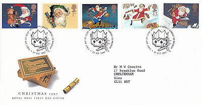 27 OCTOBER 1997 CHRISTMAS ROYAL MAIL FIRST DAY COVER BUREAU SHS (s)