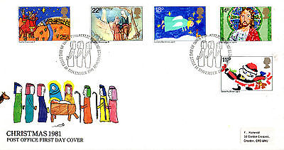 18 November 1981 Christmas Post Office First Day Cover Bureau Shs (P)