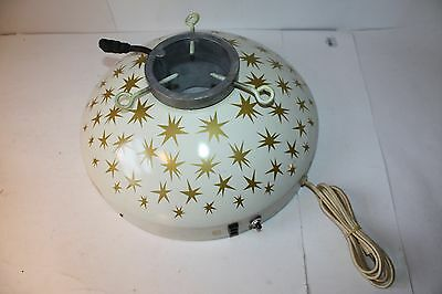 Mid-Century Holly Time Christmas Tree Turner Gold Stars Tested Working Box 1960