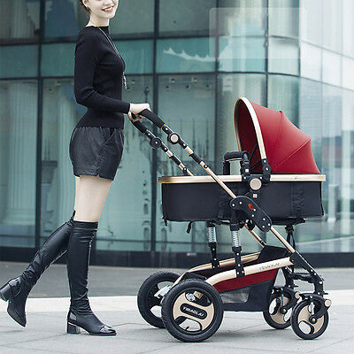 New Infant Stroller Foldable Anti-Shock Baby Pushchair Toddler High-View Buggy