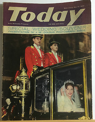'Today' magazine May 14th 1960 Wedding of Princess Margaret & Lord Snowden