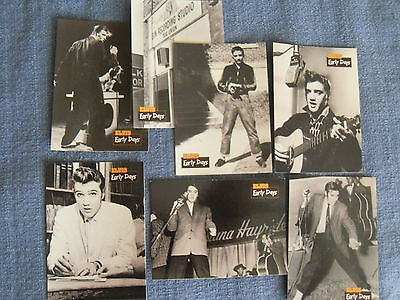 Elvis Presley-  7 trading card set from The Elvis Collection - The Early Days