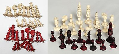 Two Good Quality Antique Part Chess Sets