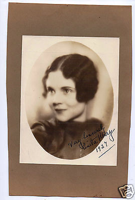 1927 Anita Kerry actress HAND SIGNED picture