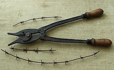 Original WW1 / WWI Relic German army Combat Pioneer Wire Cutter & Wire- D.R.G.M.