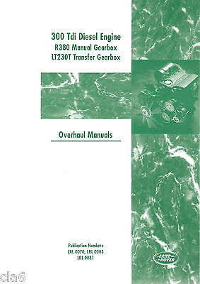 Land Rover 300Tdi Diesel Engine and Transmission Overhaul Manual *NEW