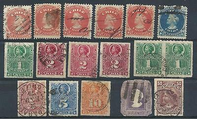 Chile 1867-94  variety used