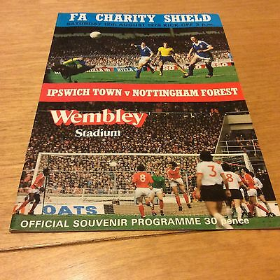 Ipswich Town v Nottingham Forest FA Charity Shield 1978