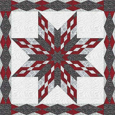 DIAMONDS DREAMING STAR QUILT TOP - Not Quilted, Machine Pieced, Made in the USA