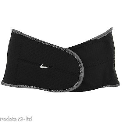 Nike Adults Waist Wrap Belt Compression Support Gym Weights Black L Rrp £18