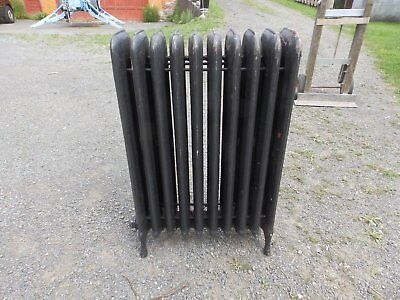Antique Steam Radiator 10 Sections Cast Iron Old Plumbing Heating 2335-16 (3)