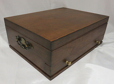 Vintage Wood Tarnish Resistant Silverware Storage Chest Box Wooden Drawer 42