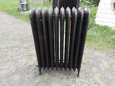 Antique Steam Radiator 10 Sections Cast Iron Old Plumbing Heating 2341-16 (9)